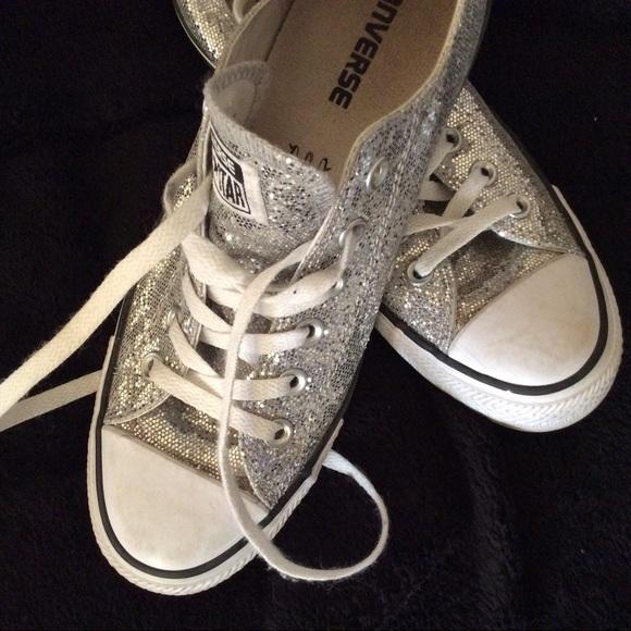 19c81526a06247 Converse Shoes - Chuck Taylor converse silver size 9